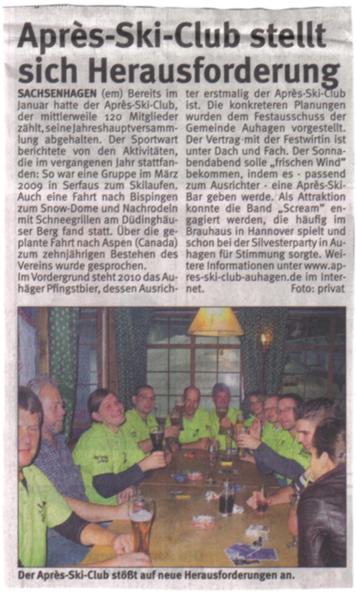 Schaumburger Wochenblatt vom 17.04.2010